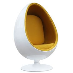 "The fiberglass Easter Chair remains as cutting edge in its design, despite being created over 40 year's ago. Product Description • Product Dimensions: 52"" H x 36"" W x 36"" D • Product Weight: 90 LBS •"