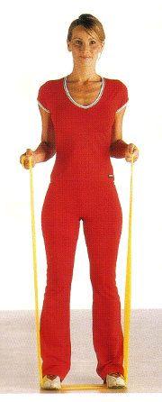 Con l'elastico puoi fare esercizi di ginnastica per gambe, cosce, glutei, addominali, braccia, spalle. Leggi e stampa il programma di allenamento completo