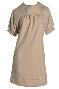 Mae Wool Blend Sheath Dress 4 Fully Lined Retro Style High Collar SS Made in USA #Mae #Sheath #Casual