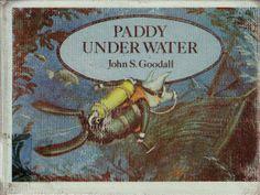 vintage kids John Goodall book Paddy Underwater, pig scuba diving adventure, meets mermaids, sea monster, finds treasure, rare, hard to find...