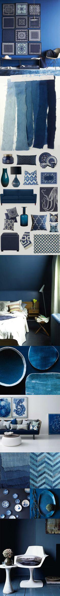 Indigo blauw interieur kleur trend