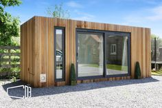 Converted Shipping Container Office from CDB Converted Shipping Container Shipping Container Workshop, Shipping Container Sheds, Converted Shipping Containers, Shipping Container Buildings, Cargo Container Homes, Shipping Container Home Designs, Container Shop, Container House Plans, Container House Design