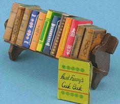 Bookshelf with Books   Mary's Dollhouse Miniatures; homeschoolin 3.99