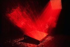 V by chooyutshing, via Flickr. This installation is by Li Hui at The Chapel space of the Singapore Art Museum which he created atmospheric environments with lasers and light.