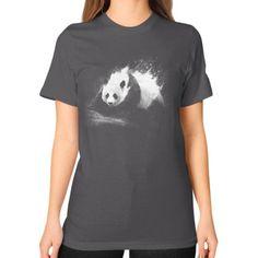 Milky Panda Unisex T-Shirt (on woman)