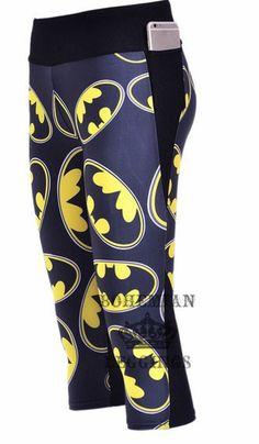 Batman leggings Capri Yoga Pants - Bohemian Leggings - 1