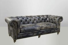 Attractive Canape Chesterfield Noir