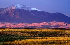 The Sangre de Cristo Mountains.  Love the names of the places in New Mexico... Blood of Christ, Holy Faith...