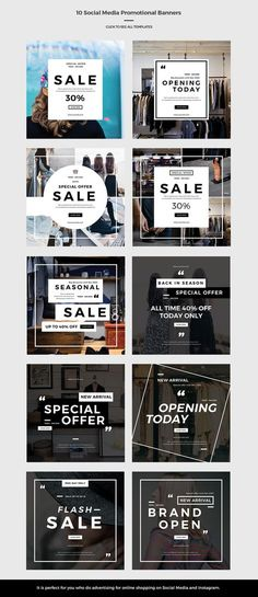 online shopping brochure design great social media promotional banners by pastostudio on creativemarket of online shopping brochure design