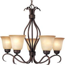 "View the Maxim MX 10125 Basix Single-Tier Chandelier with 5-Lights - 36"" Chain Included at LightingDirect.com."