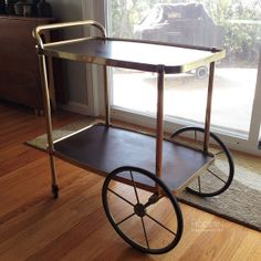 Vintage Cosco Mid Century Modern Bar Cart Brass and by alamodern, $220.00