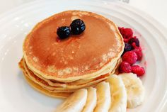 Breakfast Pancakes, Banana Pancakes, Breakfast Recipes, Sourdough Pancakes, Vegan Options, Recipe Of The Day, Food Videos, Food And Drink, Yummy Food