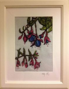 """Ewe Sir - Gallery - Cork Craft and Design """"Fuchsia"""" Framed Needle Felting and Stitching Curious Creatures, Cork Crafts, Design Crafts, Paper Goods, Needle Felting, I Shop, Whimsical, Stitching, Cute Animals"""