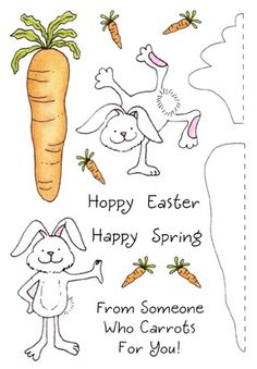 Inky Antics - Clear Stamps - Carrot Bunny,$11.95