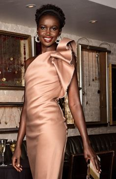 Gorgeous in LANVIN: Model Akuol De Mabior