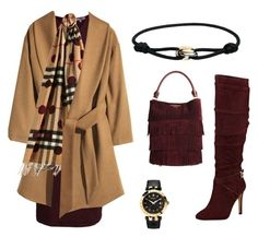 """Untitled #79"" by broora-alqenaay on Polyvore featuring Vince, H&M, Burberry, GUESS, Cartier and Versace"