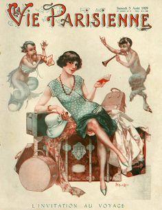 Illustration by Cheri Herouard For La Vie Parisienne August 1929