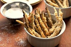 Eggplant Fries - two of my favorite words!  Gotta try this!!