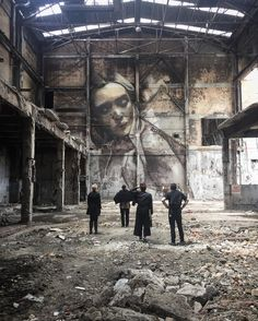 Project by Rone: street art in abandoned place
