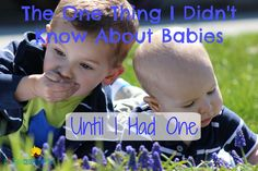 Click here to read: The One Thing I Didn't Know About Babies Until I Had One: http://kiddokorner.com/blog/the-one-thing-i-didn-t-know-about-babies-until-i-had-one.html