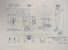Etsy の Charles Lindbergh's Spirit of St. Louis by BlueprintPlace