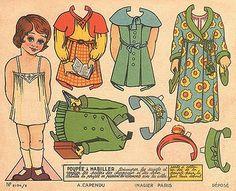 paper doll - poupée à habiller 1 by sonobugiardo, via Flickr