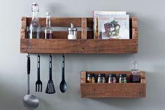 Des étagères de cuisine : Meubles en palette : 20 idées pourvousinspirer - Linternaute