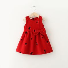 >> Click to Buy << 2017 spring and autumn new style baby girl woolen dress cherry beautiful child children fashion cute vest dress party dress #Affiliate