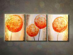 Ručne maľovaný obraz ABSTRAKT 3 dielny 120x50cm 281/MO