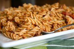 Cheesy Taco Pasta--the recipe I demo-ed on TV yesterday! Come watch :)