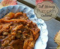 Slow Cooker Fall Morning Pumpkin Oatmeal