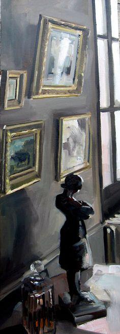 LA STATUE DE DEKEYSER Huile sur toile 90 x 30 cm / Oil on canvas - Christoff Debusschere