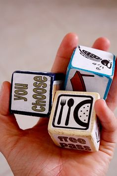 chore dice. what a great idea for kids.