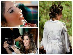 Dia da noiva | Making of da noiva | Make da noiva | Maquiagem de noiva | Maquiagem para noiva | Bride | Bride's Make Up | Inesquecível Casamento | Penteado de noiva | Hair | Hairstyle | Home wedding
