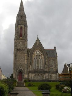 Church, in Dunoon, Argyll, Scotland. I walked past this.this church many mornings, still half drunk. Ahhh...memories. :)