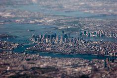 New York City in tilt-shift photography. Photo by: Tim Sklyarov