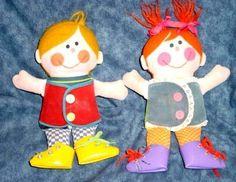 Playskool DAPPER DAN & DRESSY BESSY 1970 Dolls
