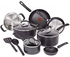 The T-fal C515SC Professional Total Nonstick Thermo-Spot Heat Indicator Induction Base Cookware Set