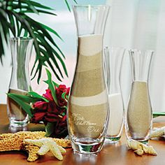 @Overstock - Blending two families together has never had a more beautiful result than with our 4-piece 'Two Shall Become One' Sand Ceremony Unity Set. Includes one large engraved vase and three smaller vases.http://www.overstock.com/Gifts-Flowers/Two-Shall-Become-One-Sand-Ceremony-Candles-Set-of-4/6590306/product.html?CID=214117 $39.99