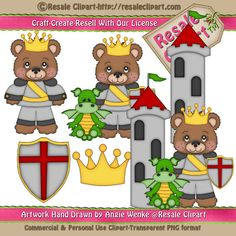LiL Prince Bears 2 Clipart Digital Download by MaddieZee on Etsy, $1.50