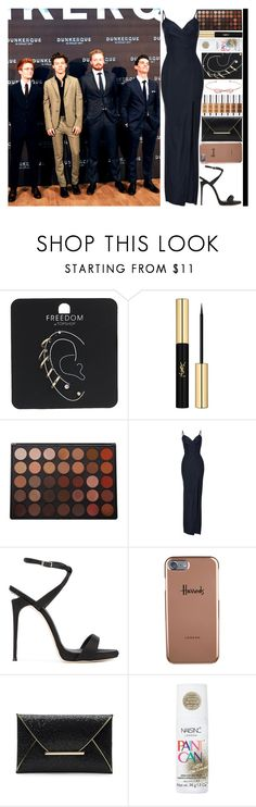 """""""With Harry Styles And The Cast"""" by angelbrubisc ❤ liked on Polyvore featuring Topshop, Yves Saint Laurent, Morphe, Giuseppe Zanotti, Harrods, Nails Inc. and Ted Baker"""