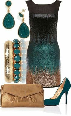 I ADORE this look! So glamorous and the color combo is stunning!