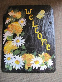 Yellow mums and daisies