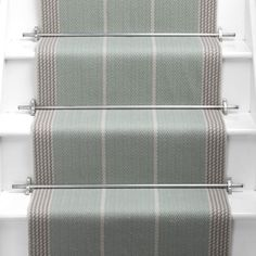 Products Runners for stairs and halls Neutral/Black Swanson: Pebble - Roger Oates Design House Stairs, Carpet Stairs, Staircase Runner, Stair Runners, Modern Staircase, Staircase Design, Stair Runner Rods, Staircase Carpet Runner, Stair Design