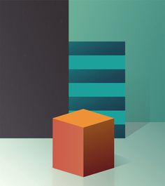'Abstract #3' by Italian artist & illustrator Ray Oranges (b.1983). via behance