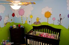Dr. Seuss Nursery. Cute!