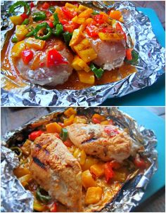 Grilled Corn and Hawaiian Grilled Cheesy Stuffed Chicken
