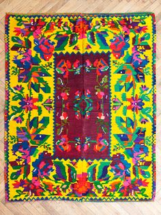 Image of ROMANIAN TRADITIONAL FLAT WAVE CARPET Home Rugs, Painting Patterns, Surface Design, Handicraft, Rugs On Carpet, Objects, Textiles, Traditional, Quilts
