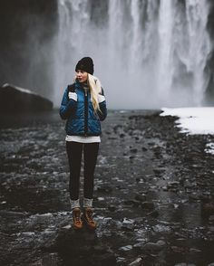 When I am in Iceland I always seem to work with remarkable brands like @66north and even more remarkable people like @gudlaugelisa who is pictured in this photograph. Behind her is the mighty Skogafoss, which became a site we often visited while in the country. Iceland is very near and dear to me and working with @thecreatorclass it's been amazing revising these memories. #thecreatorclass