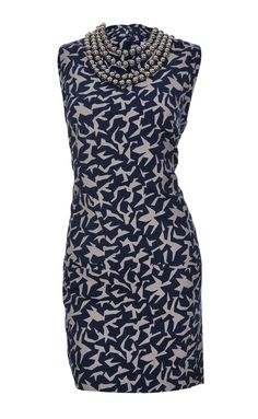 Beautiful DVF beaded blue patterend dress - Available at Stanwells.com!